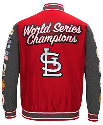 G-III Sports Men's St. Louis Cardinals Varsity Comm Patch Jacket