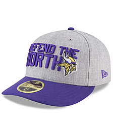 New Era Minnesota Vikings Draft Low Profile 59FIFTY FITTED Cap