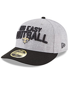 New Era New Orleans Saints Draft Low Profile 59FIFTY FITTED Cap
