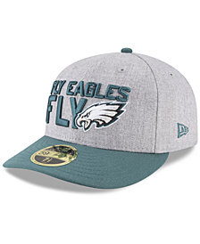 New Era Philadelphia Eagles Draft Low Profile 59FIFTY FITTED Cap