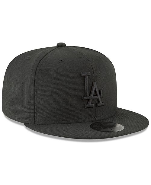 size 40 73809 fb0e6 ... New Era Los Angeles Dodgers Blackout 59FIFTY FITTED Cap ...