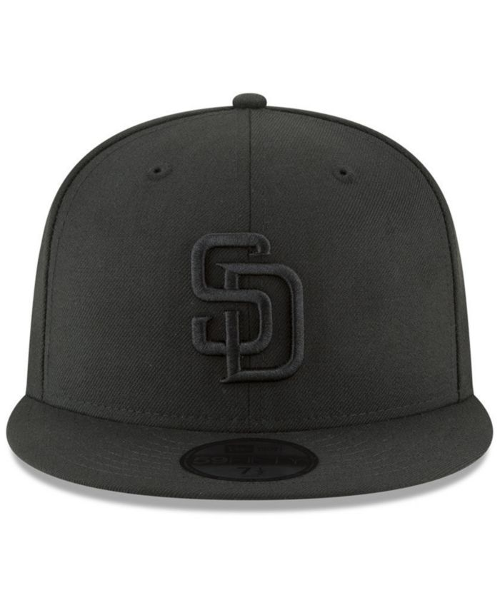 New Era San Diego Padres Blackout 59FIFTY FITTED Cap & Reviews - Sports Fan Shop By Lids - Men - Macy's