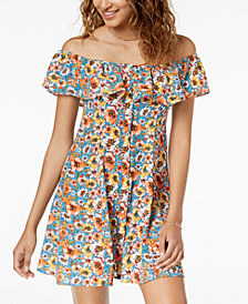Be Bop Juniors' Off-The-Shoulder A-Line Dress