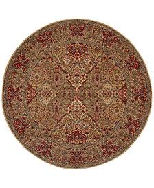 """Original Karastan 719 Empress Kirman 8'8"""" Round Area Rug"""