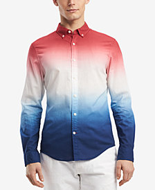 Tommy Hilfiger Men's Shay Ombré Dip-Dyed Classic Fit Shirt, Created for Macy's