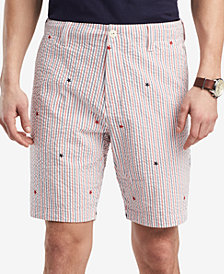 Tommy Hilfiger Men's Classic Fit Seersucker Stars & Stripes Shorts, Created for Macy's