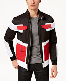 I.N.C. Men's Colorblocked Full-Zip Bomber Jacket, Created for Macy's
