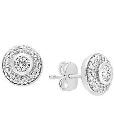 Pavé Classica Diamond Halo Stud Earrings (5/8 ct. t.w.)