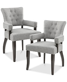 Penne Dining Arm Chair (Set of 2), Quick Ship