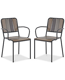 Fargo Outdoor Arm Chair (Set of 2), Quick Ship