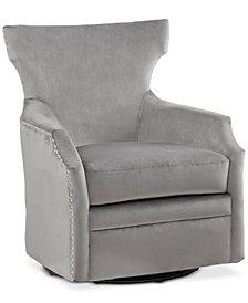 Dahlia Swivel Glider Chair, Quick Ship
