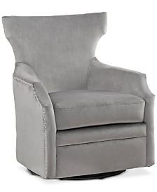 Colson Swivel Glider Chair, Quick Ship