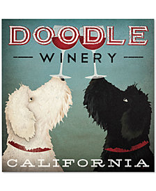 "Ryan Fowler Doodle Wine 24"" x 24"" Canvas Art Print"