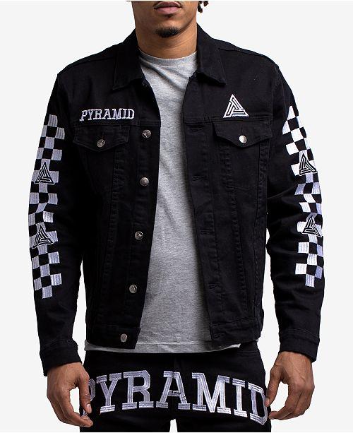 6d8aee4e9491 Black Pyramid Men s Checkered Denim Jacket   Reviews - Coats ...