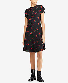 Polo Ralph Lauren Printed Crepe Dress