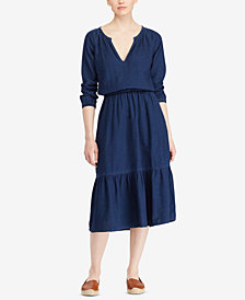 Lauren Ralph Lauren V-Neck Midi Dress
