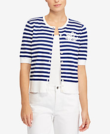 Lauren Ralph Lauren Petite Striped Cardigan