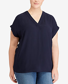 Lauren Ralph Lauren Plus Size Georgette Top