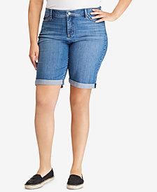 Lauren Ralph Lauren Plus Size Mid-Rise Slimming Shorts