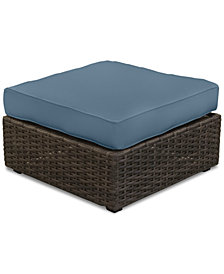 Viewport Outdoor Ottoman-Custom Sunbrella® Colors, Created for Macy's