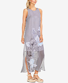 Vince Camuto Printed Chiffon Maxi Dress