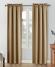 "Sun Zero Shaw Theater Grade 80"" x 63"" Extreme Blackout Rod Pocket Curtain Panel Pair"