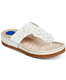 Cliffs by White Mountain Cardella Thong Wedge Sandals