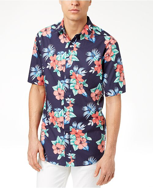 7f9134e3d31 ... Club Room Men s Island Floral-Print Shirt