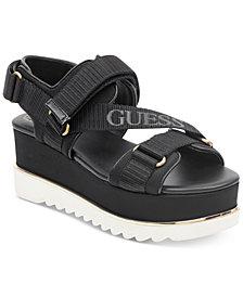 GUESS Women's Laureta Flatform Logo Sport Sandals