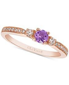 Grape Amethyst™ (1/6 ct. t.w.) & Diamond (1/6 ct. t.w.) Ring in 14k Rose Gold