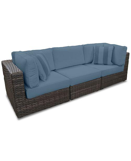 Brilliant Viewport Outdoor 3 Pc Modular Seating Set 2 Corner Units And 1 Armless Unit With Custom Sunbrella Cushions Created For Macys Creativecarmelina Interior Chair Design Creativecarmelinacom