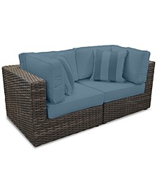 Viewport Outdoor 2-Pc. Modular Seating Set (2 Corner Units) with Custom Sunbrella® Cushions, Created for Macy's