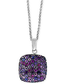 "Splash by EFFY® Purple Sapphire 18"" Pendant Necklace (7/8 ct. t.w.) in Sterling Silver"