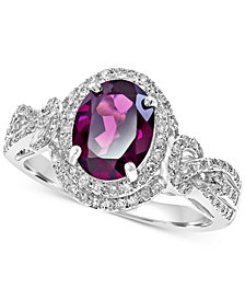 EFFY® Rhodolite (2-1/3 ct. t.w.) & Diamond (3/8 ct. t.w.) Ring in 14k White Gold