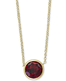 "EFFY® Rhodolite Garnet 18"" Pendant Necklace (9/10 ct. t.w.) in 14k Gold"