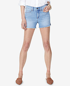 NYDJ Frayed Tummy-Control Denim Shorts