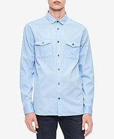 Calvin Klein Men's Washed Bedford Shirt