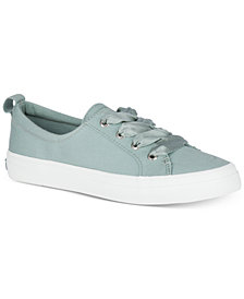 Sperry Women's Crest Vibe Satin Lace-Up Memory Foam Fashion Sneakers