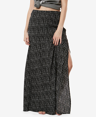Juniors' Ashton Printed Maxi Skirt by O'neill