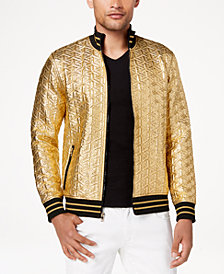 I.N.C. Men's Textured Gold Jacket, Created for Macy's