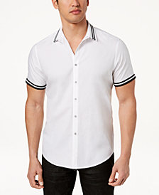 I.N.C. Men's Short Sleeve Button Down Shirt, Created for Macy's