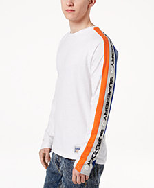 Superdry Men's Trophy Raglan-Sleeve Logo Side Stripe T-Shirt