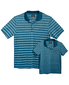 Greg Norman for Tasso Elba Men's & Kids Ombré Fade Striped Polos, Created for Macy's