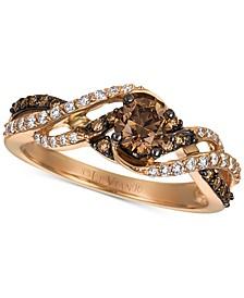 Chocolatier® Gladiator Weave™ Diamond Ring (3/4 ct. t.w.) in 14k Rose Gold