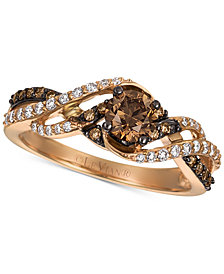 Le Vian Chocolatier® Gladiator Weave™ Diamond Ring (3/4 ct. t.w.) in 14k Rose Gold