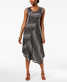 John Paul Richard Petite Printed Asymmetrical Dress