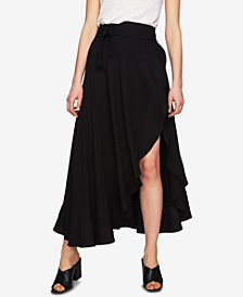 1.STATE Asymmetrical Wrap Skirt