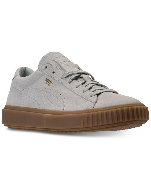 7128216feea553 ... Puma Men s Breaker Suede Gum Casual Sneakers from Finish Line ...