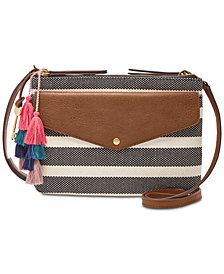 Fossil Devon Stripe Small Crossbody