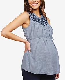 Motherhood Maternity Embroidered Top